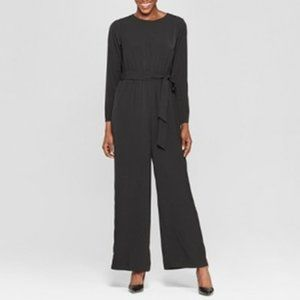 Long Sleeve Crew Neck Jumpsuit - Who What Wear